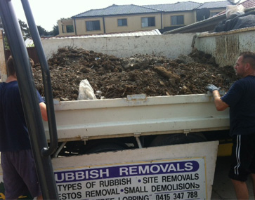 removing rubbish